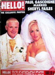 Hello magazine's Paul Gascoigne wedding cover
