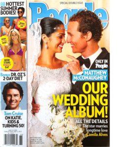 People magazine McConaughy wedding
