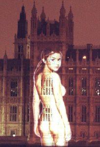 Gail Porter FHM stunt houses of Parliament