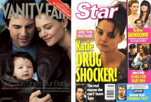 Tom Cruise and Katie Holmes magazine front covers