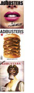 Adbusters magazine covers