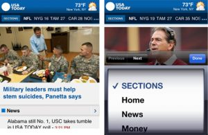 usa today mobile screens