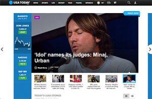 usa today website redesign