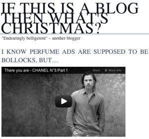 if this is a blog..
