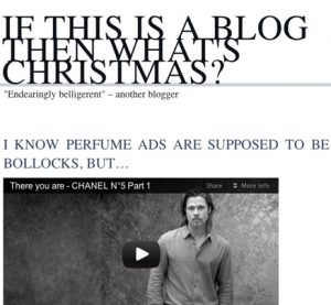 If this is a blog...