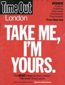 time out take me I'm yours